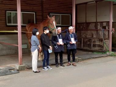 「東京チャグチャグ馬コ」から支援金が贈呈されました